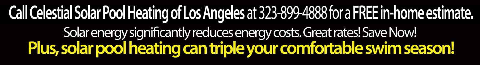 Celestial Solar Pool Heating Los Angeles