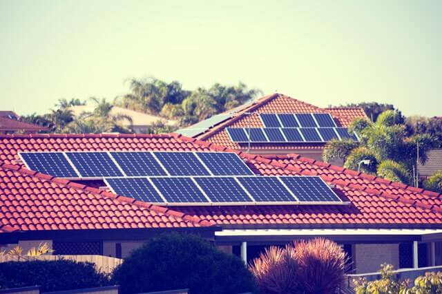 solar panel on roof in southwest